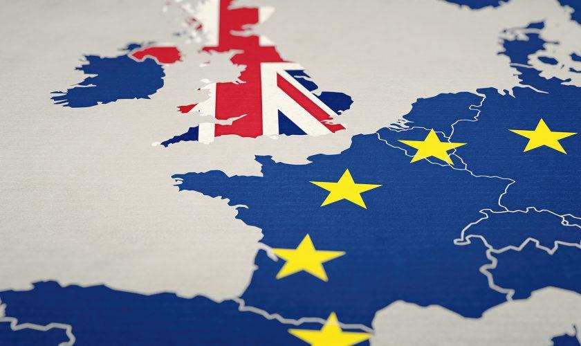 Brexit Konzept – Großbritannien  verlässt die Europäische Uni